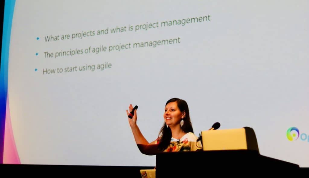 Hannah Smith talks about agile project management at WDC 2017 Bristol